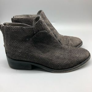 Eileen Fisher Tuck scale textured leather booties